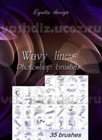 Wavy line brushes by Lyotta