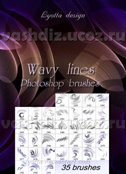 Wavy line brushes