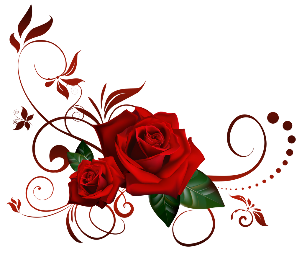 Roses decor by lyotta on deviantart for Decoration rouge
