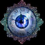Clock blue Eye