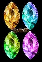 Precious gems crystals by Lyotta