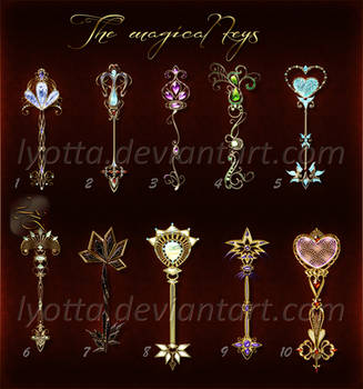 The magical keys set 03 lyotta OPEN by Lyotta