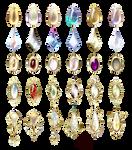 Small jewelry with precious stones