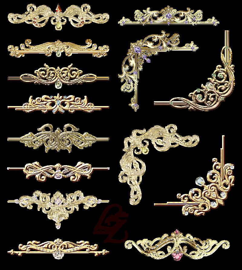 gold ornaments design elements 02 by lyotta by lyotta on deviantart