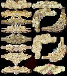 Gold Ornaments Design Elements 02 by Lyotta