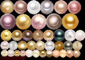Multi-colored pearls by Lyotta