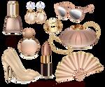 Vector female fashion accessories set
