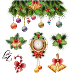 Christmas clock and tree toys decoration