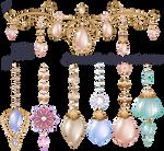 Festive jewelery diadem with diamonds