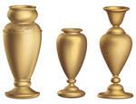 Antique bronze vase 3D
