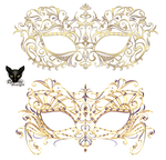 Mask venetian carnival with jewelry ornament