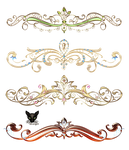 Gold elements diadems with jewelry