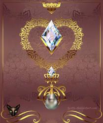 Golden Decor Heart 004 by Lyotta
