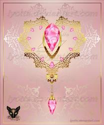 Golden Decor Heart 005