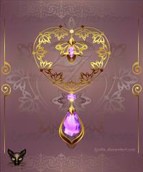 Golden Decor Heart 006