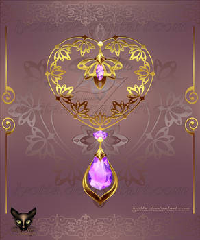 Golden Decor Heart 006