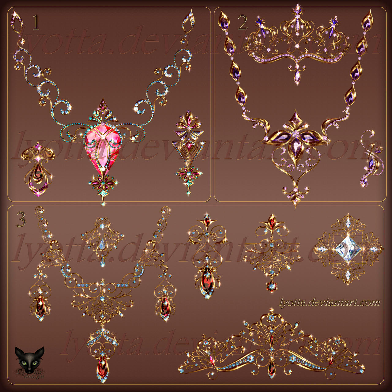 Design Jewelry Gold Pendants Necklace 011
