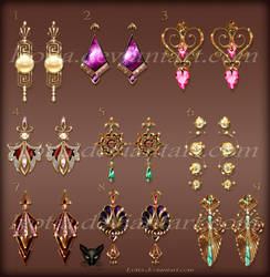 Design costume jewelry earrings