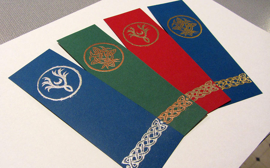 Tamuran knotwork bookmarks by ansuz