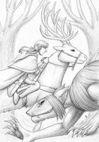 Tamuran Book 1 cover - pencil work by ansuz