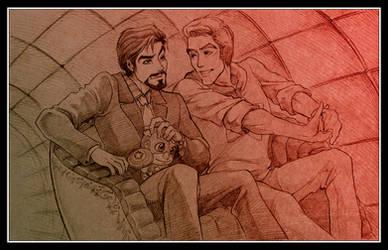[Avengers] Steve/Tony, 'Tunnel o' Love' (old) by vejiicakes