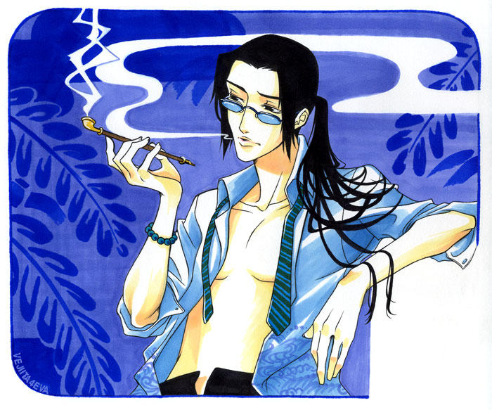 Champloo: Jin and blue smoke by vejiicakes