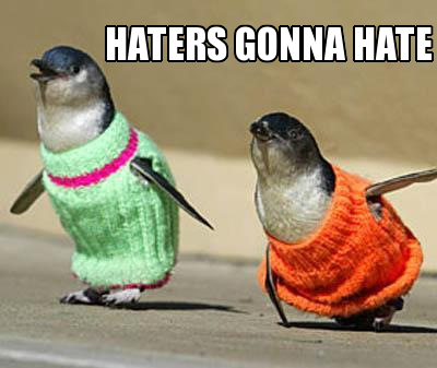 HATER Penguins by maxwellshammer