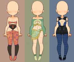 Original Outfits 3/3 OPEN $6/600 pts.