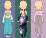 Mermaid Inspired Outfits - OPEN $6/600 pts. by Sleepy-Thunder