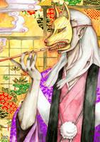 The masked mononoke by Tacaret
