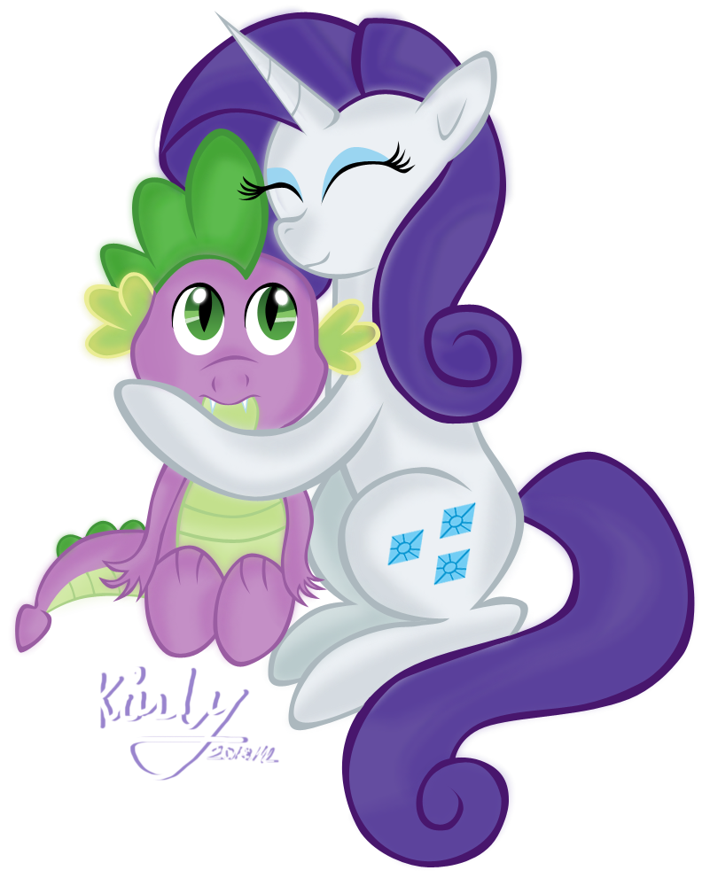 Spike and Rarity. by KristySK