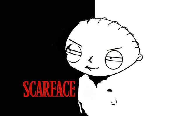 Stewie scarface by mongolartistgroup on deviantart - Scarface cartoon wallpaper ...