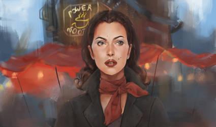 Madison Batler, my oc at Fallout 4 by VinogradovaArtroom