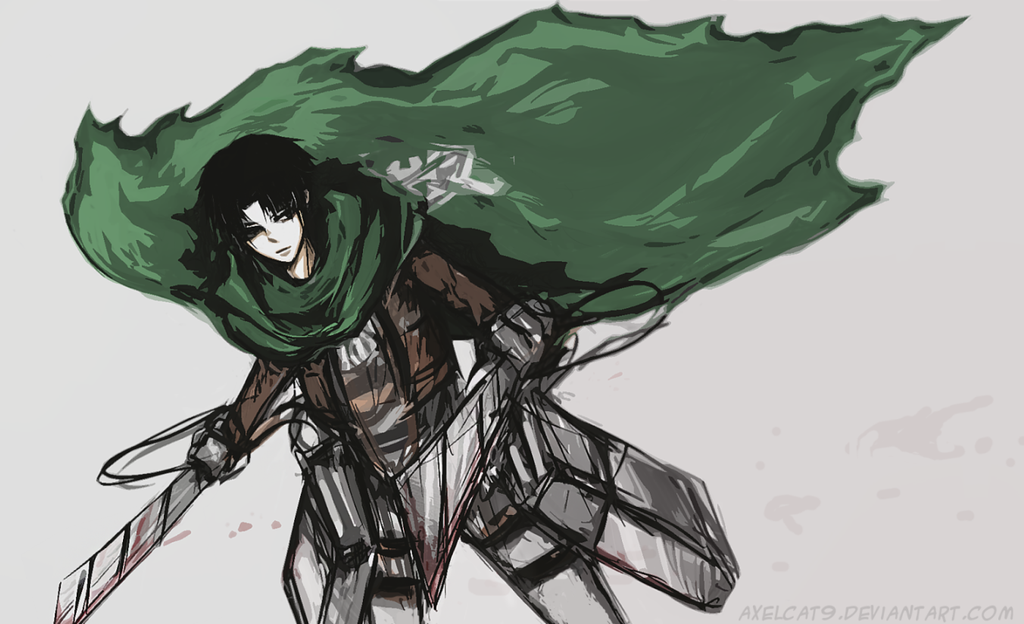 corporal Levi sketch by AxelCat9