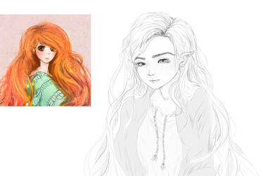redrawing old art