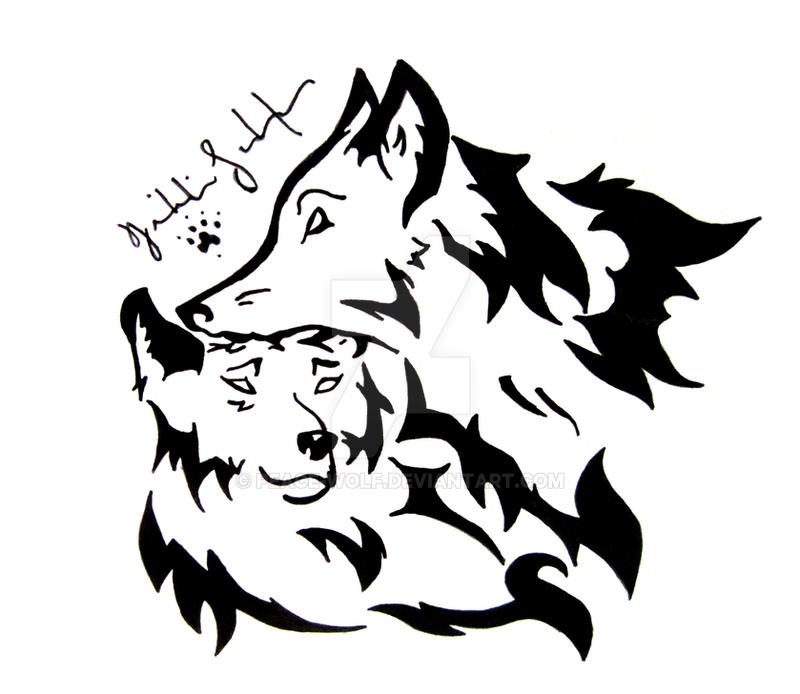 b4a9b704 Tribal Wolf Love by Peace-Wolf on DeviantArt