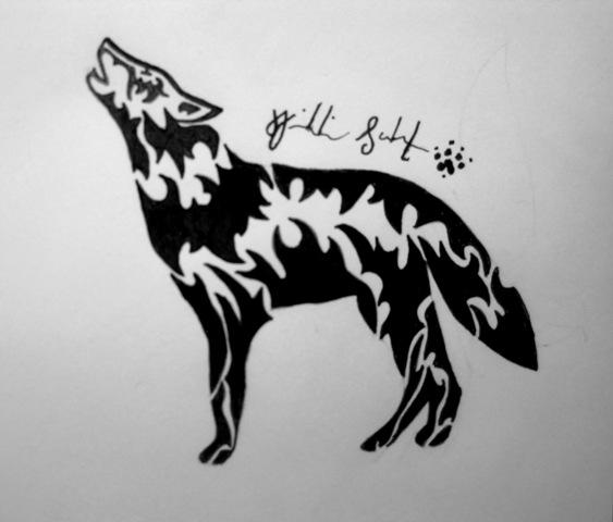 Tribal Wolf Wallpaper: Tribal Wolf By Peace-Wolf On DeviantArt