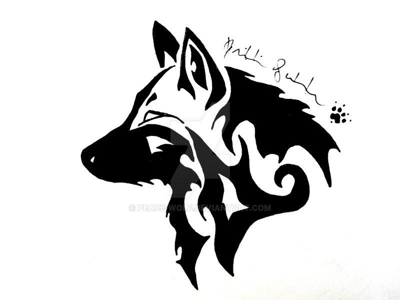 5cc03f2a Tribal Wolf Head by Peace-Wolf on DeviantArt