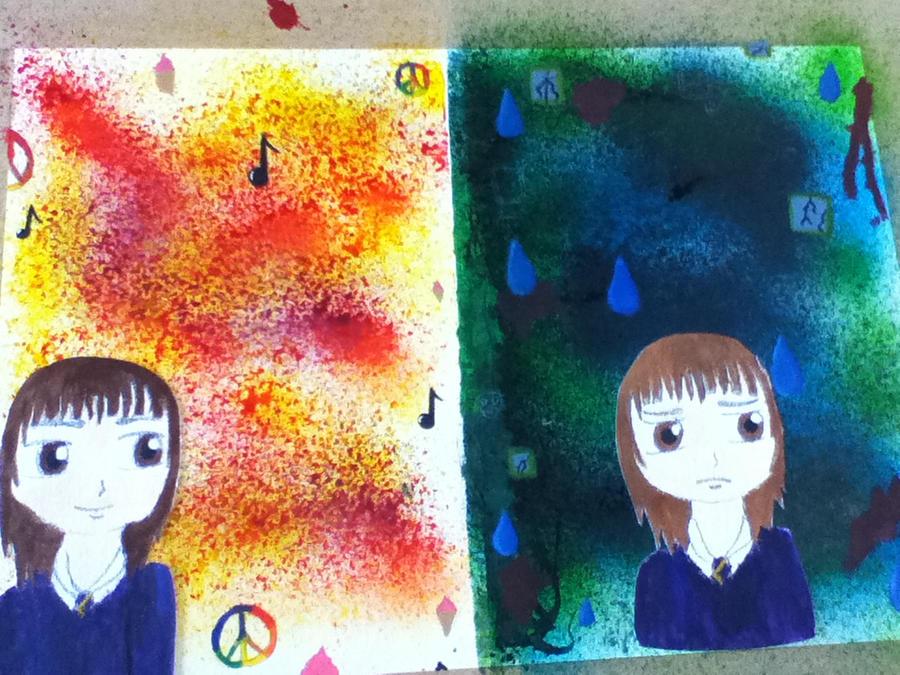 Contrasts happy/sad GCSE AO4 by casio1241