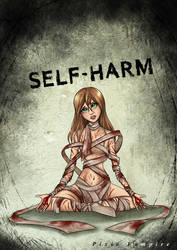 Self-harm cutts art