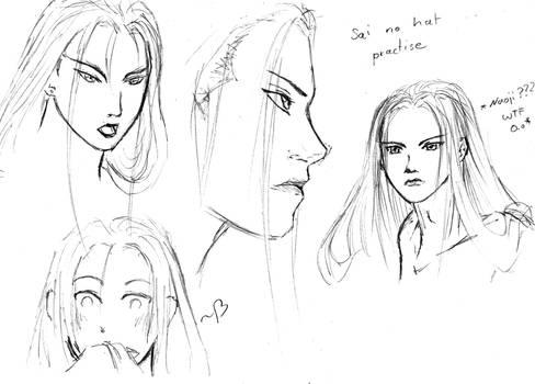 Fujiwara no Sai sketch practize