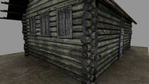 Russian old log house 1990 006