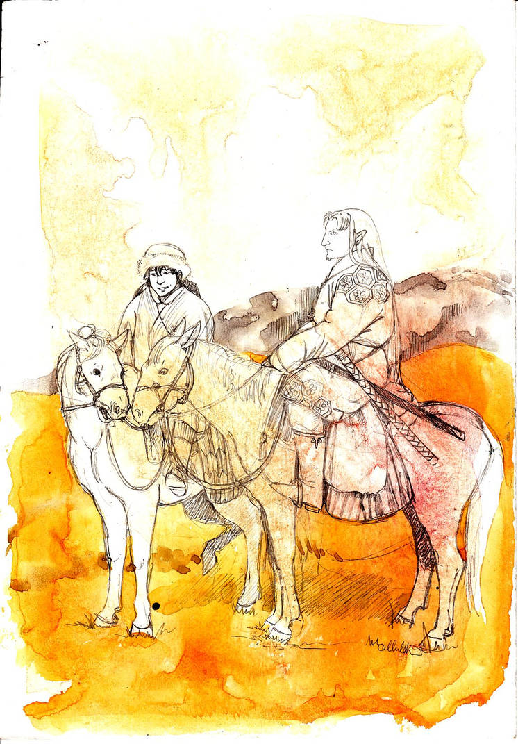 Mongol Sesshoumaru n Kagome by melanippos on DeviantArt