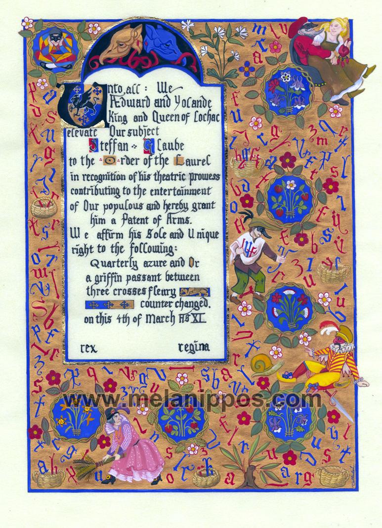 Laurel scroll by melanippos