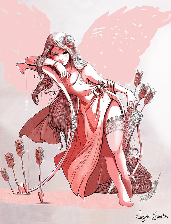 Eros - Divinty of love by VirginieSiveton