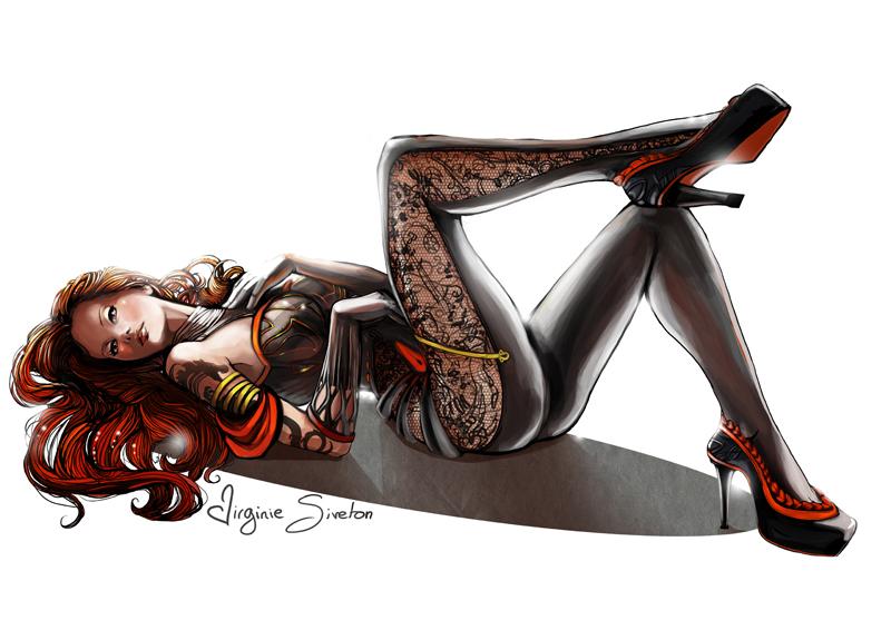 fa8132e51 Femme fatale by VirginieSiveton on DeviantArt
