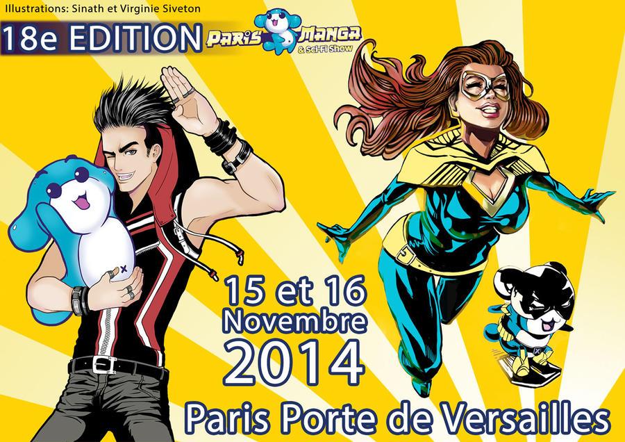 Sinath and Virginie Siveton at Paris Manga 2014 by VirginieSiveton