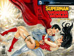 Blank Cover Super Man and Wonder Woman