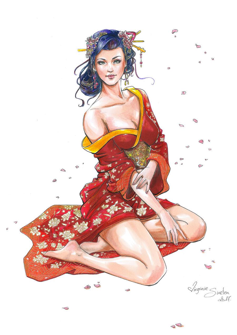 Geisha by VirginieSiveton