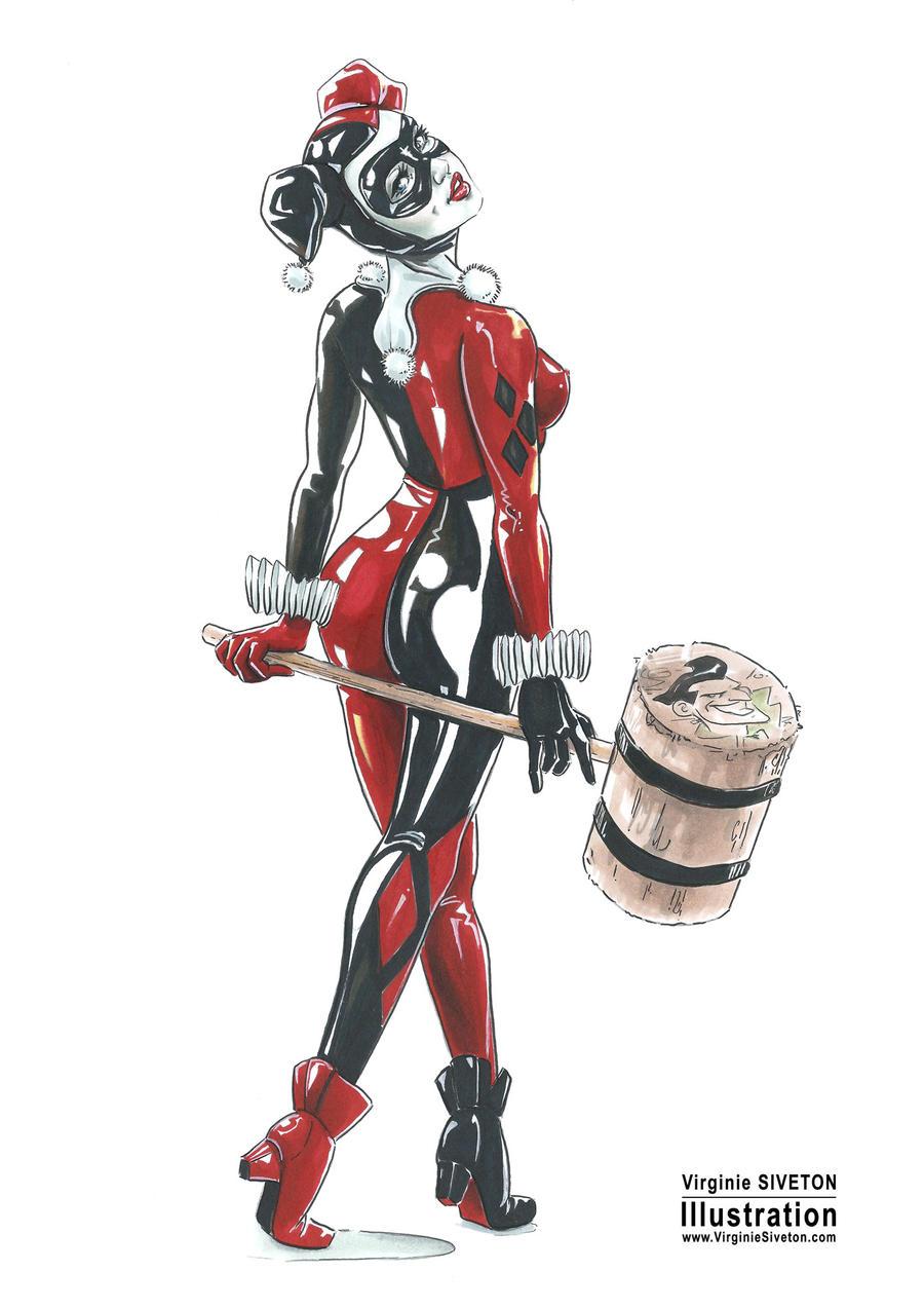 Harley Quinn by VirginieSiveton